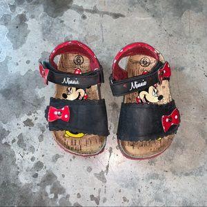 Minnie Disney cork strap sandals. Size girls 6